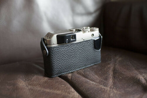 Handmade Genuine Real Leather Half Camera Case Bag Cover for Contax G1