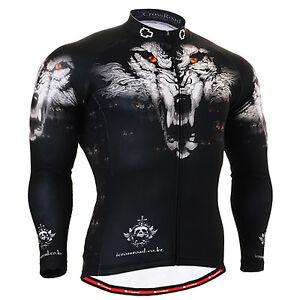 FIXGEAR-1801-mens-womens-wolf-mountain-cycling-jersey-bike-clothing-Top-S-3XL