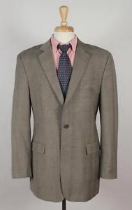 Ralph-Lauren-41L-Beige-Check-Wool-2B-Mens-Sport-Coat-Blazer-Suit-Jacket-0152