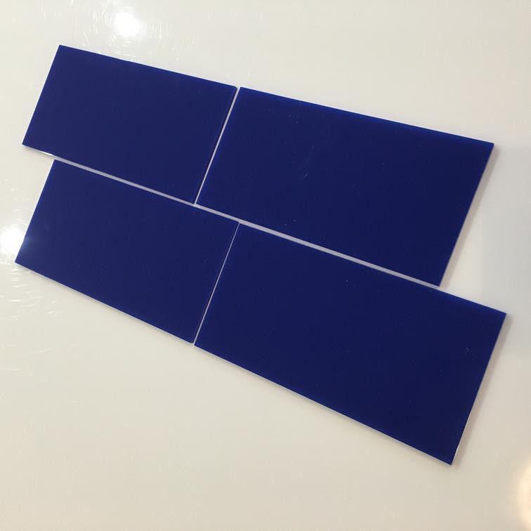 Rectangular Acrylic Wall Tiles - Blau