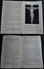 ANTIGUA ESTAMPA HOLY CARD ROSARIO DE LAS SANTAS LLAGAS DE JESUCRISTO 1924 CC1618