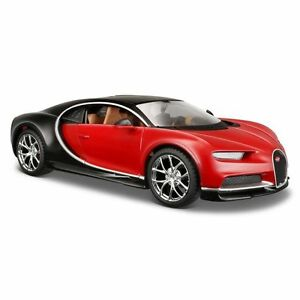 Maisto-1-24-Red-Bugatti-Chiron-Diecast-Model-Racing-Car-Vehicle-Toy-New-in-Box