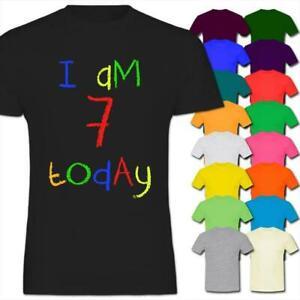 I/'m 7 Today Child/'s 7th Birthday Kids Boy Girl T-Shirt
