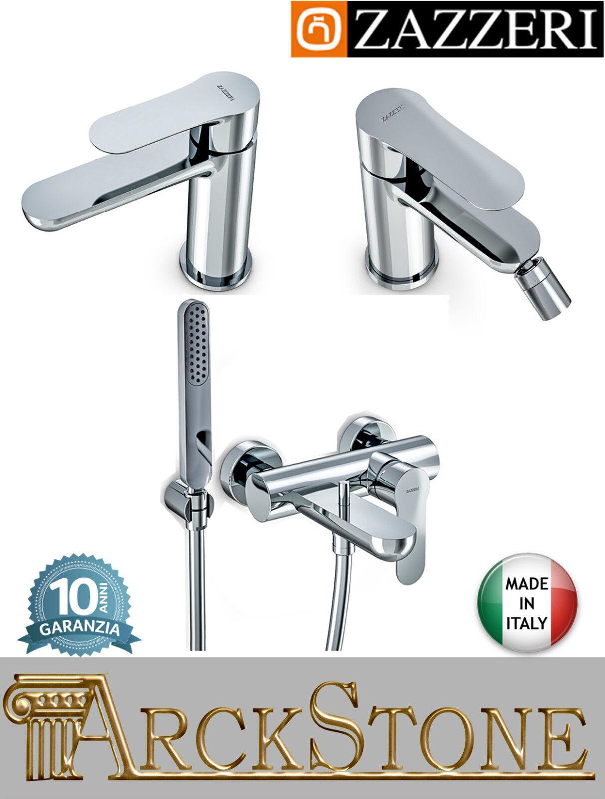 Rubinetteria completa Zazzeri Ultra mix lavabo bidet vasca doccetta flessibile