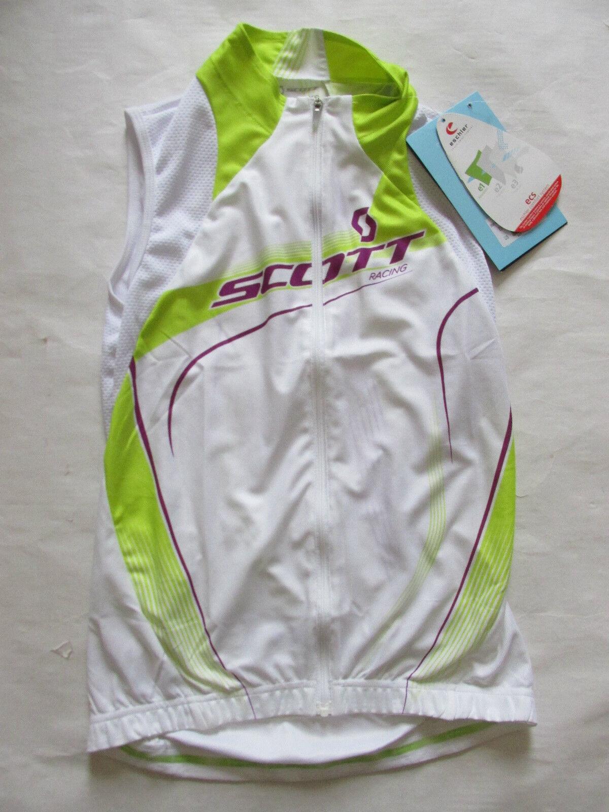 SCOTT bikewear Damenss RC RC Damenss W/O sleeveless cycling jersey full zip shirt c050d5
