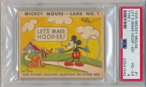1935-Mickey-Mouse-R89-Gum-Card-1-Let-039-s-Make-Hoop-ee-PSA-4-1542