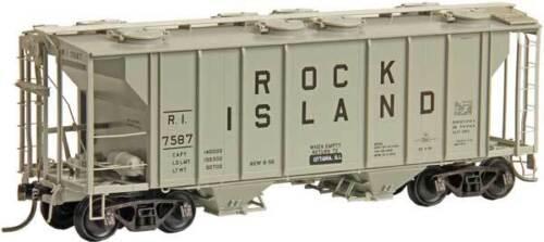 KADEE 8658 ROCK ISLAND PS-2 Covered Hopper # 7587 2-Bay 2003 Cu HO Scale Ft