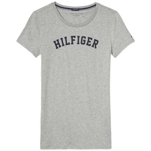 Tommy Hilfiger Women Organic Cotton Short Sleeved Crew Neck T-Shirt Heather Grey