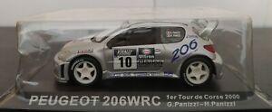 1-43-PEUGEOT-206-WRC-TOUR-DE-CORSE-2000-G-PANIZZI-H-PANIZZI-IXO-ALTAYA-ESCALA