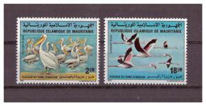 Mauritanie-Oiseaux-de-le-Parc-National-Banc-D-Arguin-Minr-738-739-1981