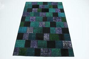 Tappeto Moderno Turchese : Vintage patchwork tappeto orientale moderno turchese lillà
