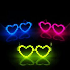 20 PCS DIY Heart-shape Glasses Frame For Glow Stick Luminous Light Up Neon Party