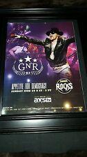 Guns N' Roses Rare Original AXS TV Concert Promo Poster Ad Framed!