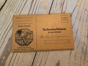 Vintage-Hawaiian-Hulagram-Ten-Motions-Postcard-Aholha-Scenery-Sunshine-Gaiety