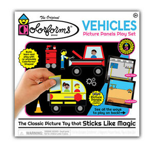 Colorforms-Vehicle-Picture-Panels-Play-Set-1106-Reuseable-Craft-Set-Creative