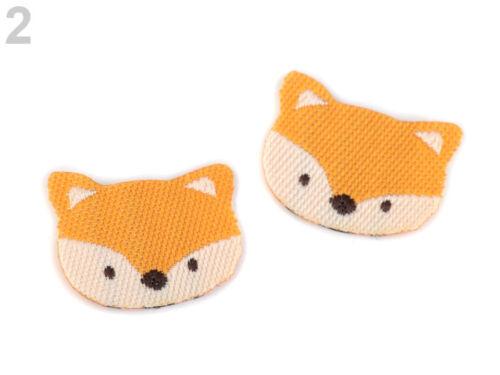 Fuchs orange 10x Aufbügler Aufnäher Verzierung Applikation Fuchsgesicht