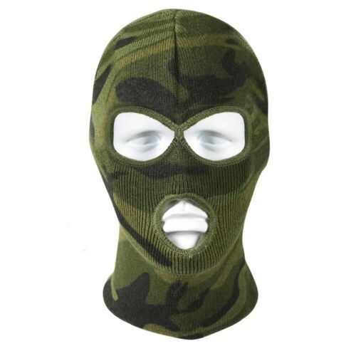 Rothco Woodland Camo 3 Hole Face Mask 5596