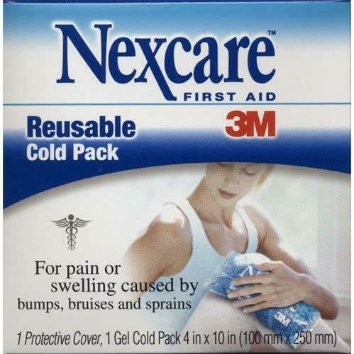 3M Nexcare Reusable Cold Pack, Model: 2646, 4 In X 10 In - 1 Ea