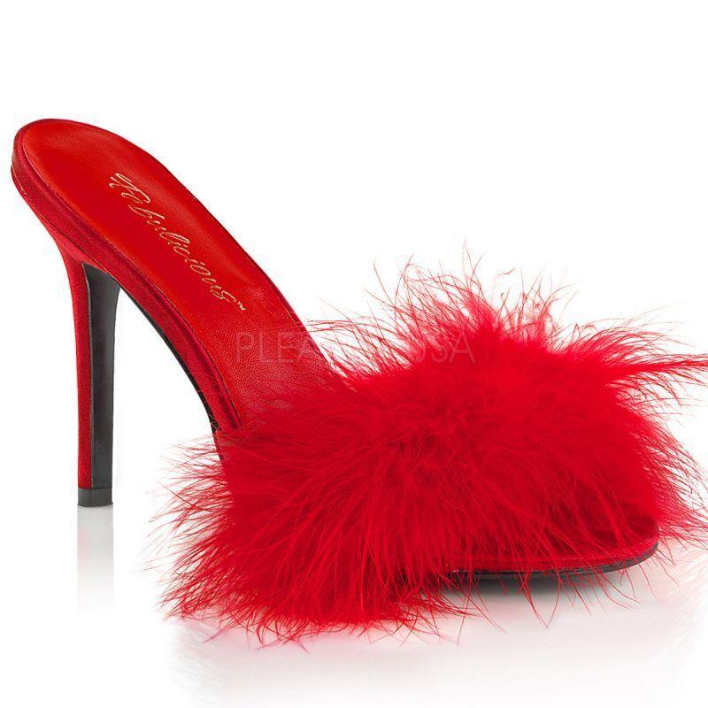 presa di fabbrica Fabulicious CLASSIQUE - 01f Sandali Rosso Piume FEMME FATALE FATALE FATALE tabledance Lolita.  risparmia fino al 70%