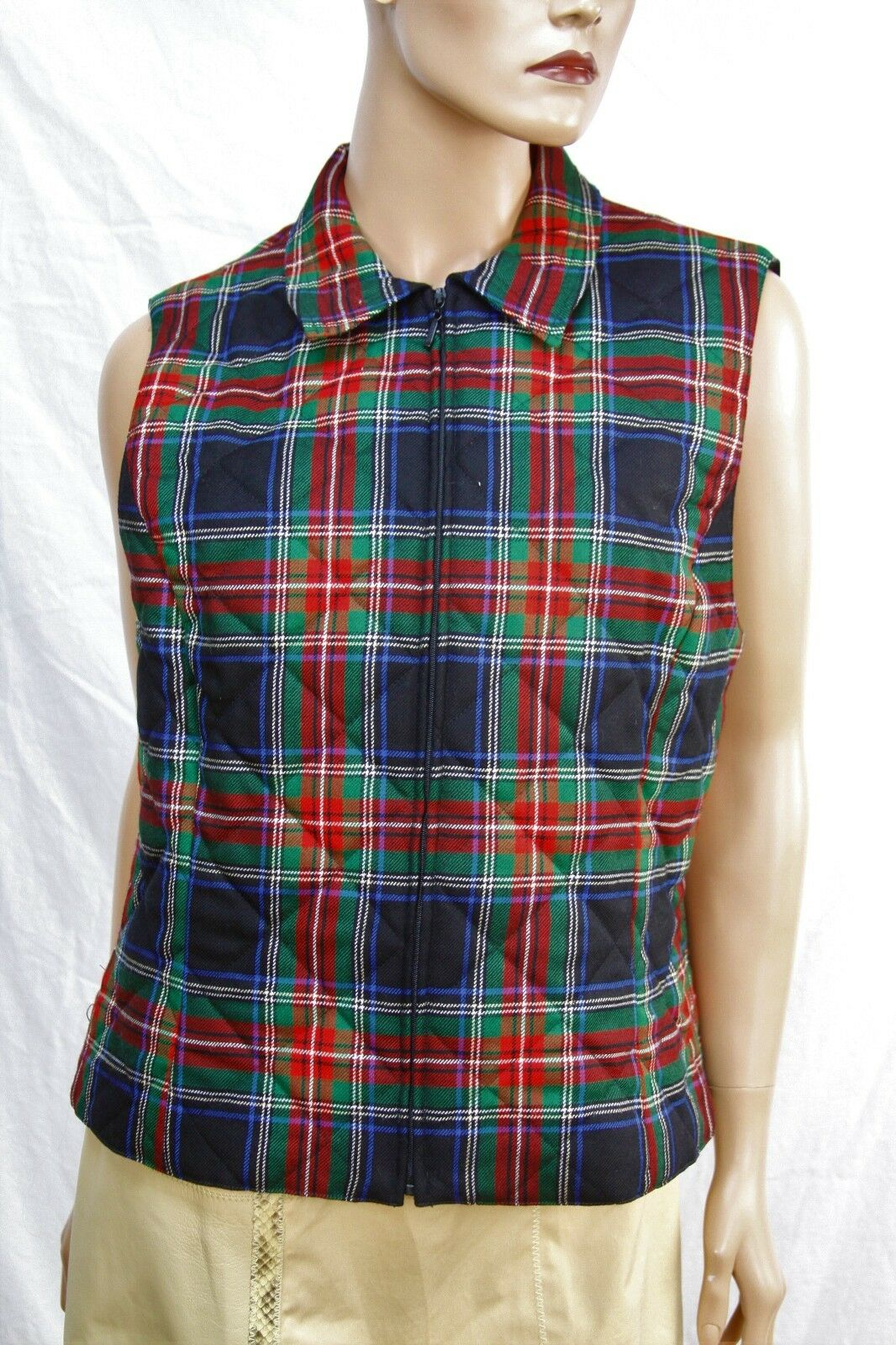 Authentic Pendleton Women's wool zip vest L Made in the USA.