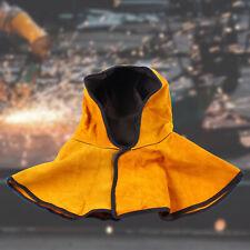 Shawl Hat Breathable Cowhide Split Leather Welding Hood Head Protective Cap