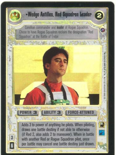 Star Wars CCG Reflections II Foil Wedge Antilles Red Squadron Leader