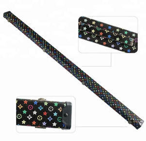 SNOOKER-POOL-3-4-CUE-CASE-BLACK-WITH-MULTI-COLOURED-PATTERN-STYLE-FREE-DELIVERY