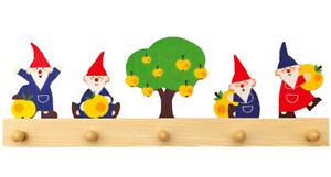 Kinder Garderobe Zwerge Wichtel Fur Kinderzimmer 5 Haken 50cm Holz 322 Neu Ebay