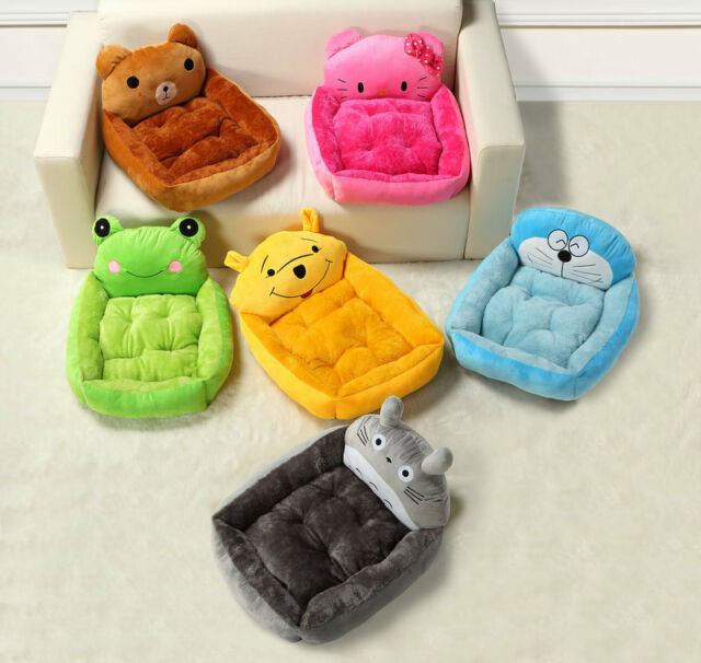 Cartoon Puppy Bed Dog Bed Cat Mat Sofa Dog House Couch Cushion Warm Soft M/L