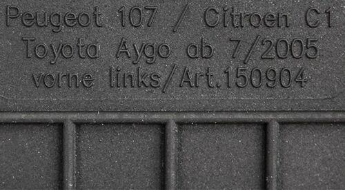 Tapis de sol pour Citroen C 1 c1 2005-2014 en caoutchouc en caoutchouc Tapis entièrement Compatible