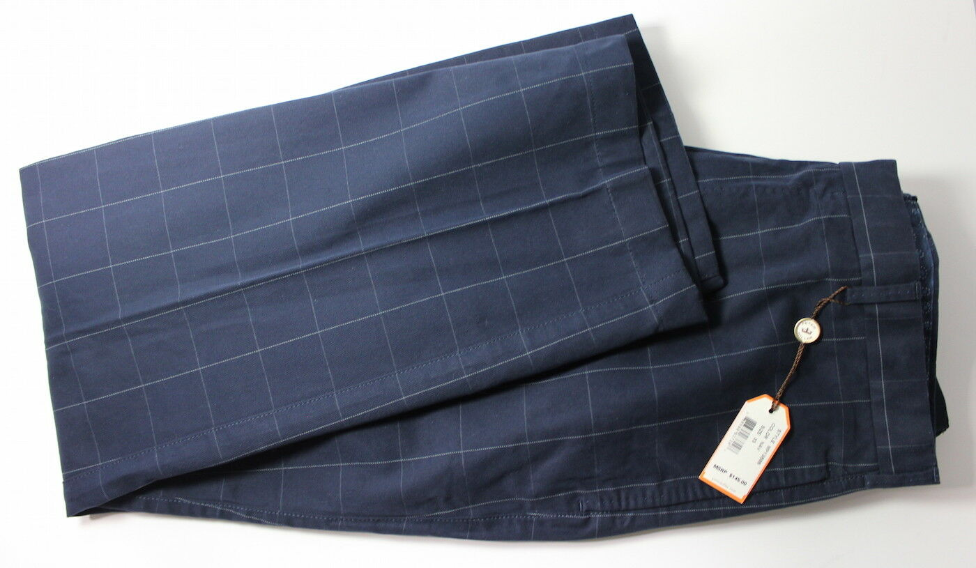 Peter Millar Men's 33 x 30 Navy 100% Cotton Pants NWT MSRP