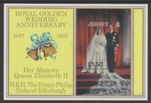 Jersey-1997-Dore-Mariage-Feuille-MNH-Sg-MS842