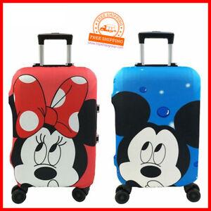 Minnie-Mickey-Reisekoffer-Schutzhuelle-Reisen-Urlaub-elastischer-Bezug-Kinder