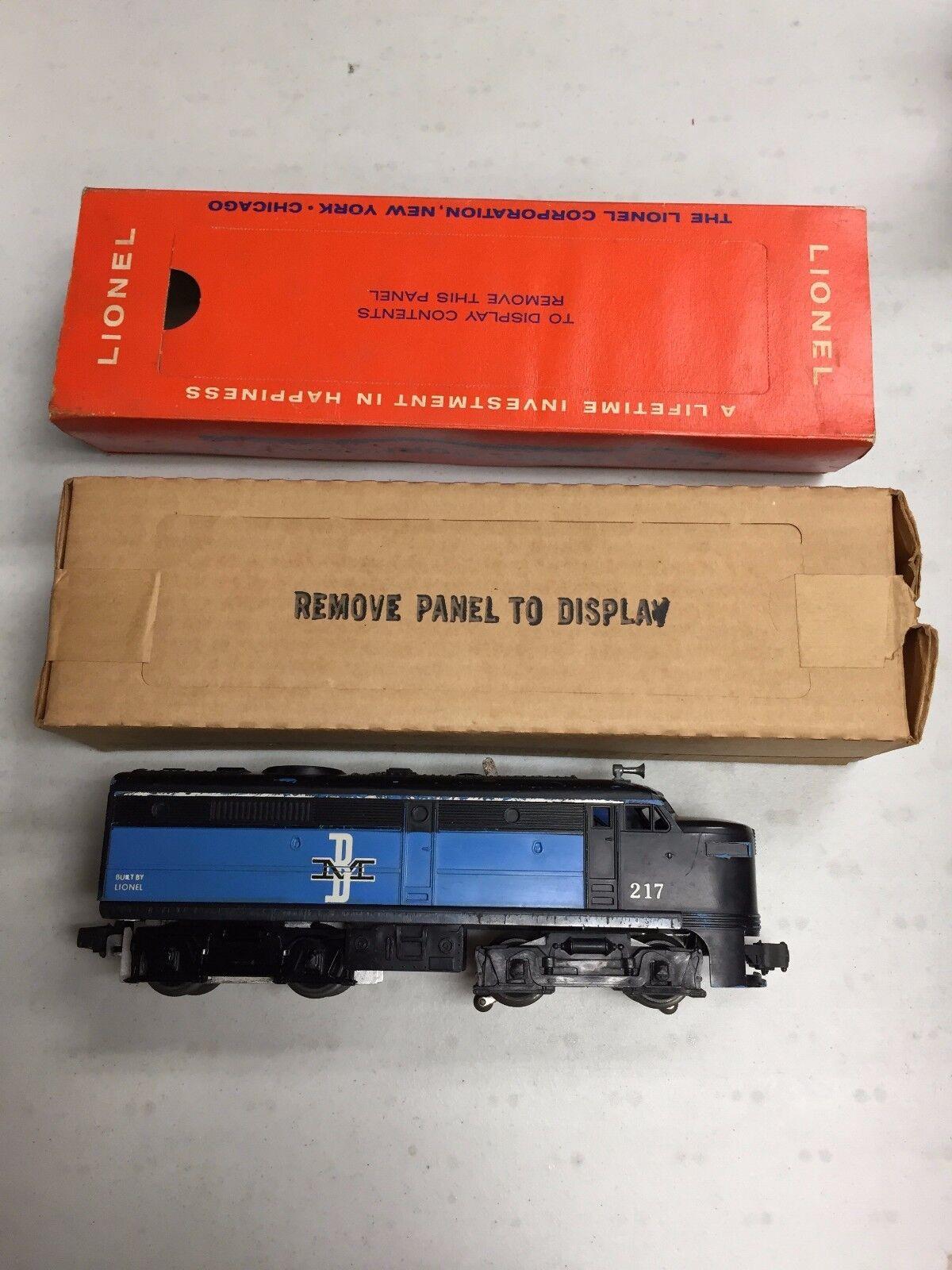 LIONEL BOSTON & MAINE ALCO 217 DIESEL ENGINE W/ RARE  ORIGINAL BOX