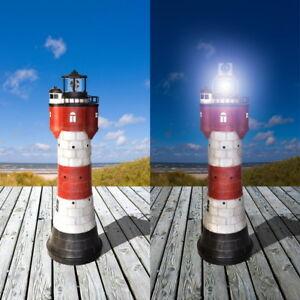 XL-Gartendekoration-Solar-Leuchtturm-ROTER-SAND-LED-Beleuchtung-Solarbeleuchtung