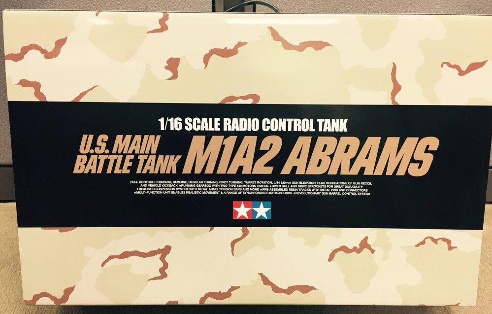 Tamiya 1 16 RC US M1A2 Abrams-Completo opción Kit Nuevo En Caja