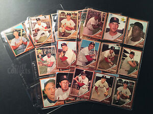 1962-Topps-St-Louis-Cardinals-29-Baseball-Card-Lot-Stan-Musial-Schoendienst