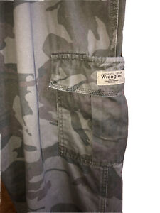 Wrangler Rugged Wear Para Hombre Pantalones Tipo Cargo De Camuflaje Talla 38x30 100 Algodon Ebay