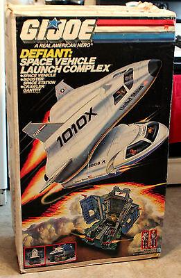 Vintage GI JOE 1987 Defiant navette spatiale complexe véhicule intact partie Ascenseur