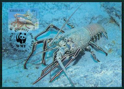 Kiribati Mk 1998 Fauna Dornen-languste Lobster Langouste Maximumkarte Mc Cm En58 Mit Traditionellen Methoden