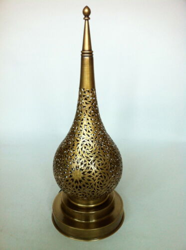 Romantic Oriental Lightning LARGE Authentic Moroccan Brass Table Lamp