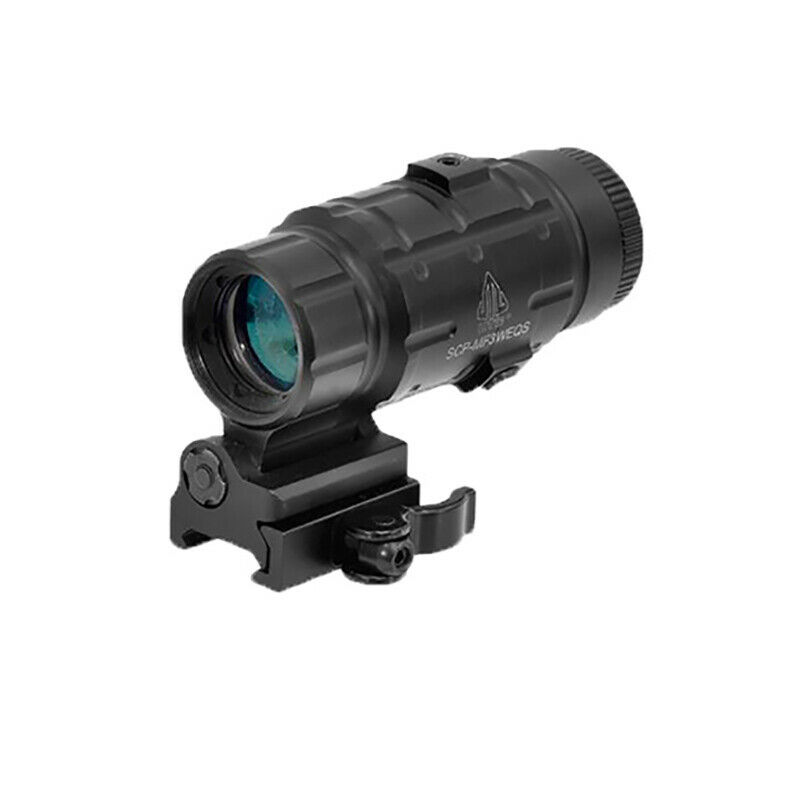 Leapers UTG 3X Dot Sight Magnifier with Flip-to-side QD Mount, W E Adjustable