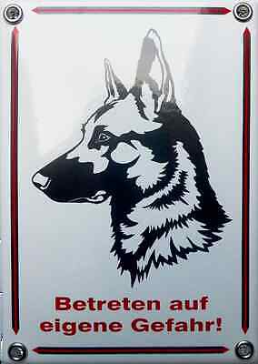 Emailleschild Betreten Auf Eigene Gefahr Commodities Are Available Without Restriction Schäferhund Neu