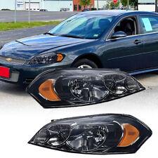 Headlights For 2006 2013 Chevy Impala2006 2007 Chevy Monte Carlo Black Pair Fits 2006 Impala