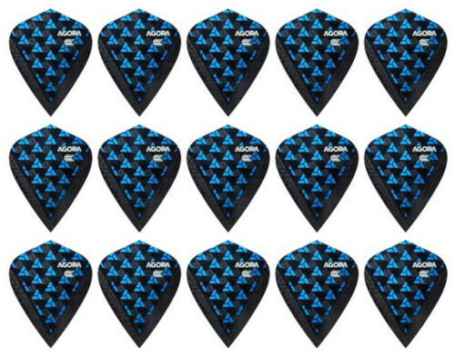 5 New Sets Target Agora Ultra Ghost Kite Dart Flights Ships w// Tracking Blue