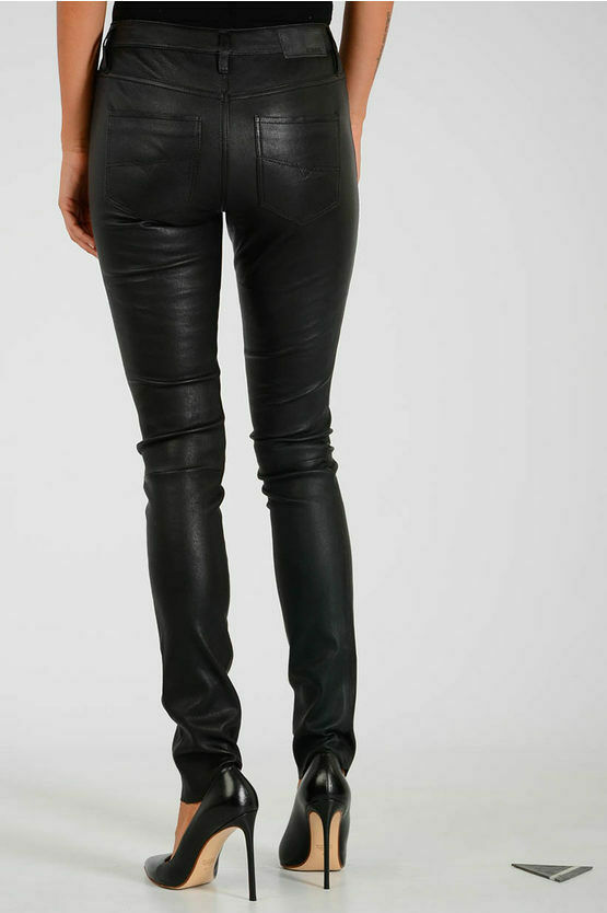 Diesel 100% Leather pants For Women SKIM Pants  Leather