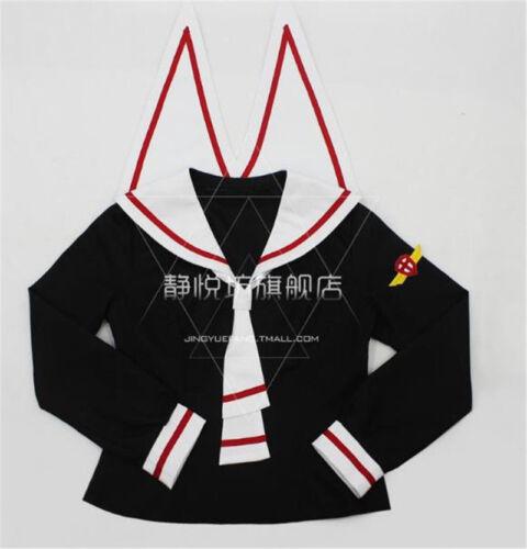 Anime Carte Capteur JK School Uniform Costume Sakura Kinomoto Sailor Cosplay Costume