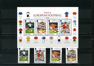 GIBRALTAR 1998 Sc#746-749a WORLD CUP SOCCER FRANCE SET OF 4 STAMPS & S/S MNH
