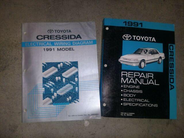 1991 Toyota Cressida Genuine Oem Repair Manual And