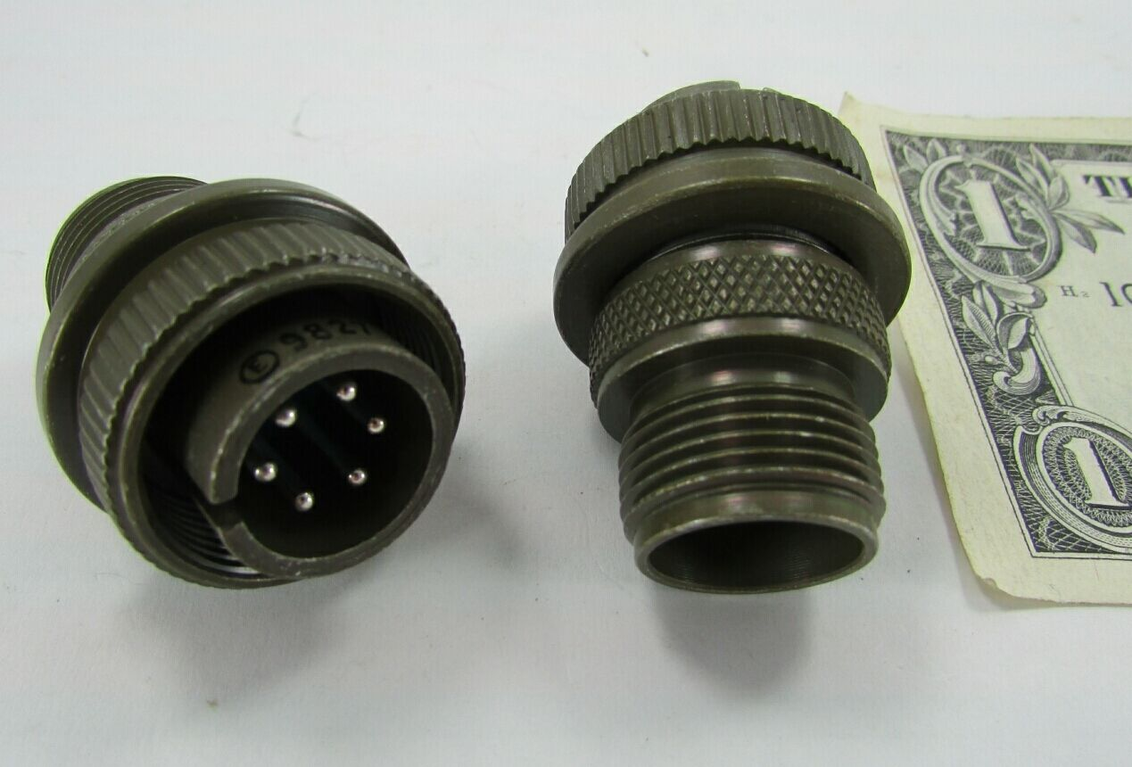 6-Pole Lot of 2 Amphenol 97-3106A14S-6S Circular Mil Spec Connector Female